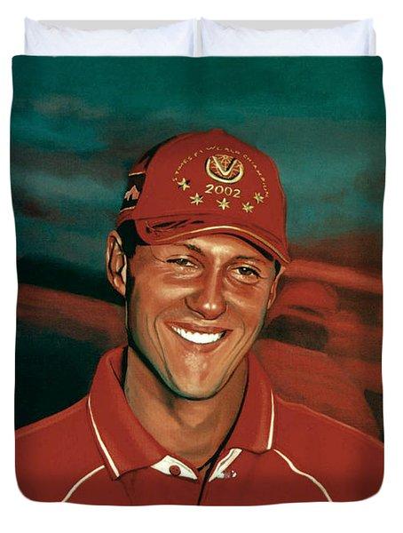 Michael Schumacher Duvet Cover by Paul Meijering