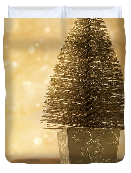 Miniature Christmas Tree Duvet Cover by Amanda Elwell