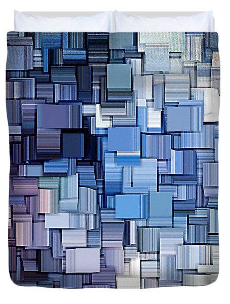 Modern Abstract Vi Duvet Cover by Lourry Legarde