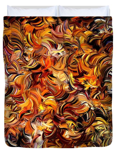 Modern Abstract Xxv Duvet Cover by Lourry Legarde