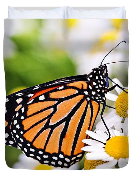 Monarch butterfly Duvet Cover by Elena Elisseeva
