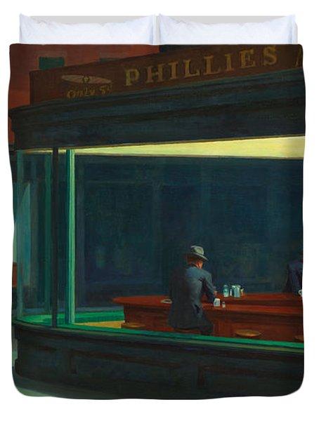 Nighthawks Duvet Cover by Edward Hopper