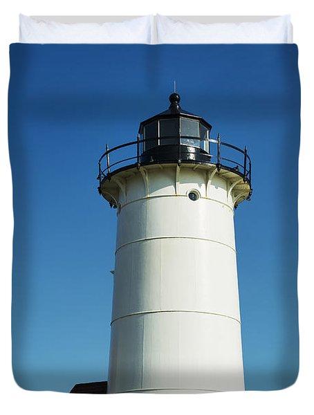 Nobska Lighthouse Duvet Cover by John Greim