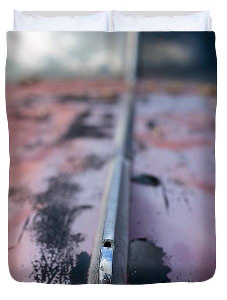 Old Junker Car  Duvet Cover by Edward Fielding