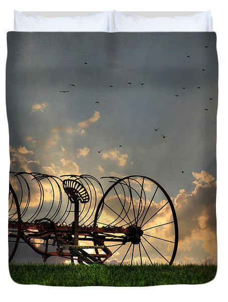 Out To Pasture Duvet Cover by Lori Deiter