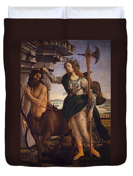 Pallas And The Centaur Duvet Cover by Sandro Botticelli