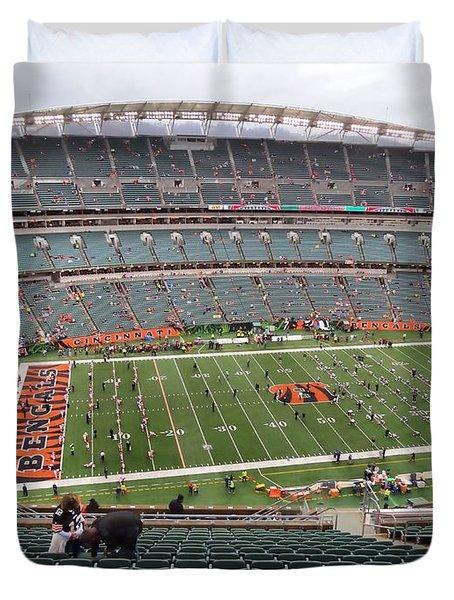 Paul Brown Stadium Duvet Cover by Dan Sproul