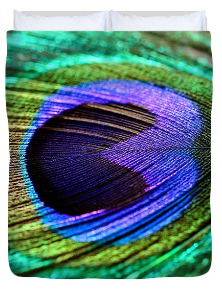 Peacock Feather Duvet Cover by Heike Hultsch