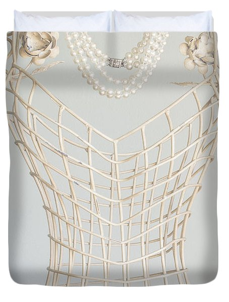 Pearls Duvet Cover by Margie Hurwich