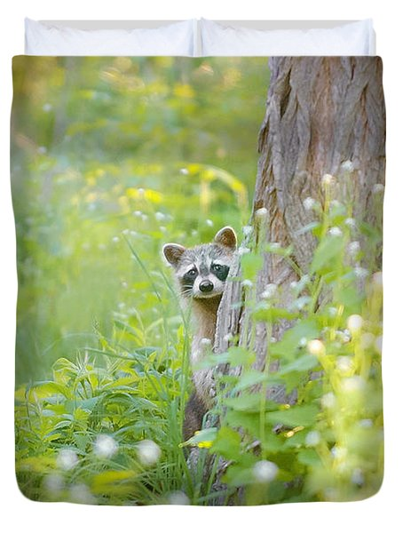 Peek A Boo Duvet Cover by Carrie Ann Grippo-Pike