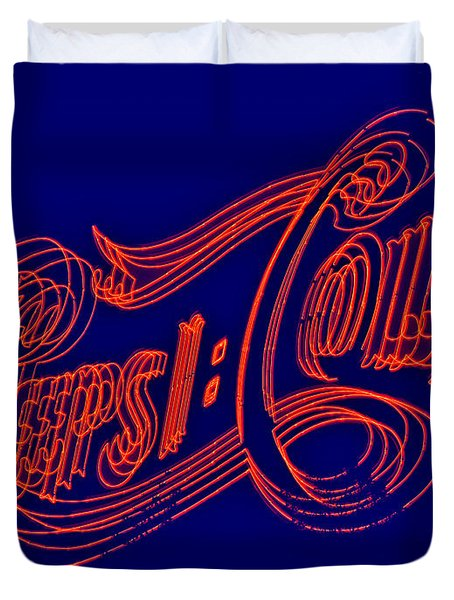 Pepsi Cola Duvet Cover by Susan Candelario