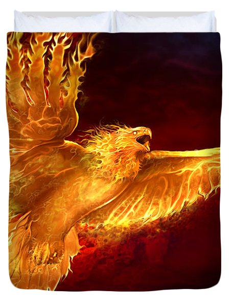 Phoenix Rising Duvet Cover by Tom Wood