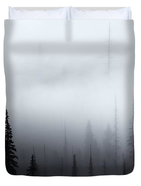 Piercing The Clouds Duvet Cover by Mike  Dawson