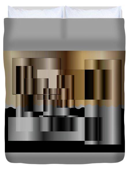 Pipes Duvet Cover by Iris Gelbart