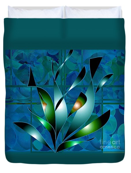 Planted Beauty Duvet Cover by Iris Gelbart
