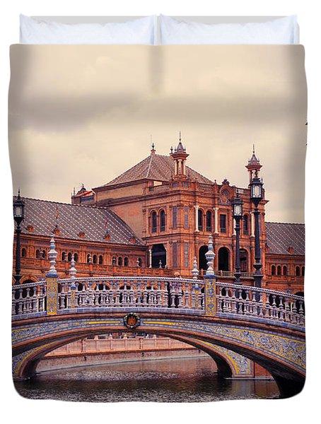 Plaza de Espana. Seville Duvet Cover by Jenny Rainbow