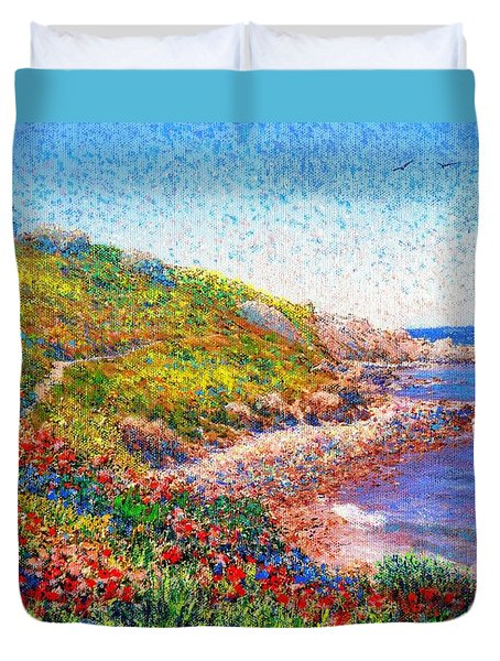 Enchanted By Poppies Duvet Cover by Jane Small