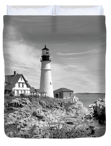 Portland Head Lighthouse Duvet Cover by Mike McGlothlen