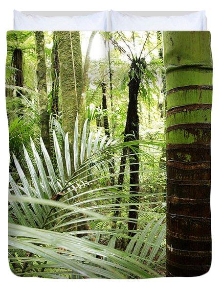 Rainforest  Duvet Cover by Les Cunliffe