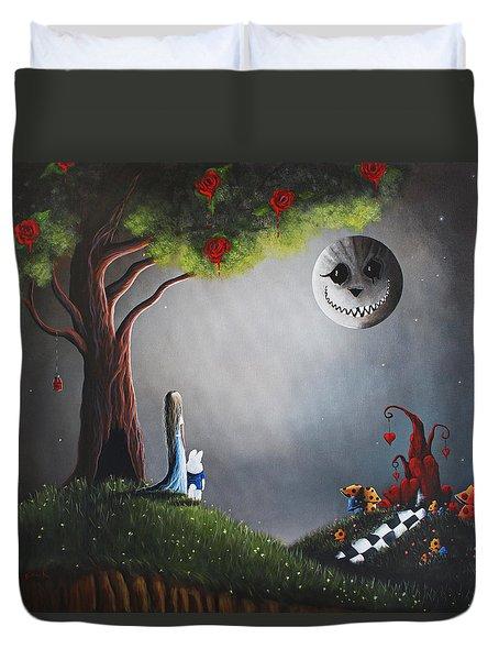 Alice In Wonderland Original Artwork Duvet Cover by Shawna Erback
