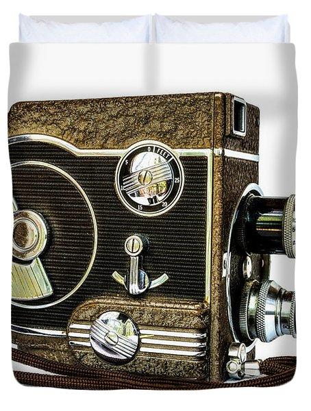 Revere 8 Movie Camera Duvet Cover by Jon Woodhams