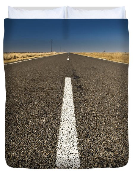 Road Ahead Duvet Cover by Tim Hester