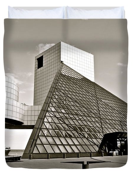Rock Hall Of Fame Duvet Cover by Frozen in Time Fine Art Photography