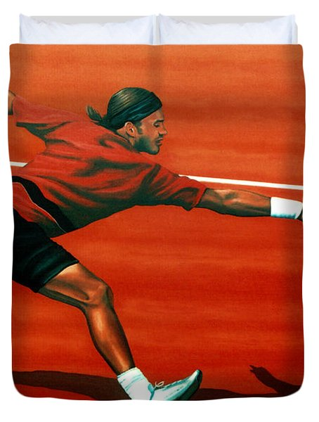Roger Federer Duvet Cover by Paul  Meijering
