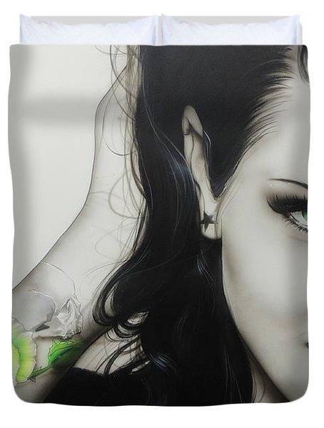 'Rose of Envy' Duvet Cover by Christian Chapman Art