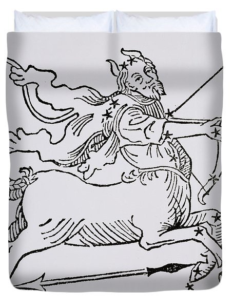 Sagittarius An Illustration Duvet Cover by Italian School