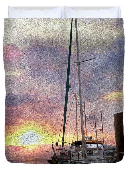 Sailboat Duvet Cover by Jon Neidert