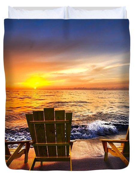 Sea Dreams II Duvet Cover by Debra and Dave Vanderlaan