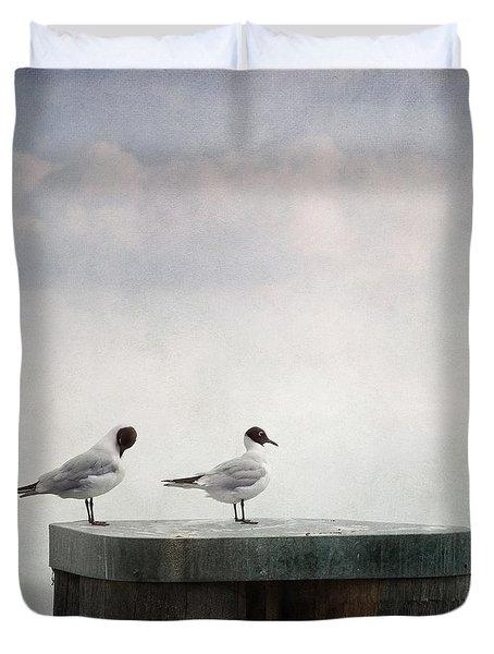 Seagulls Duvet Cover by Priska Wettstein