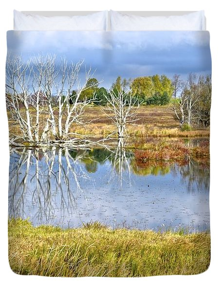 Seasons End Duvet Cover by Frozen in Time Fine Art Photography