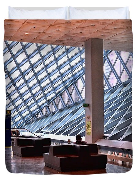 Seattle Library Reading Room 2 Duvet Cover by Allen Beatty