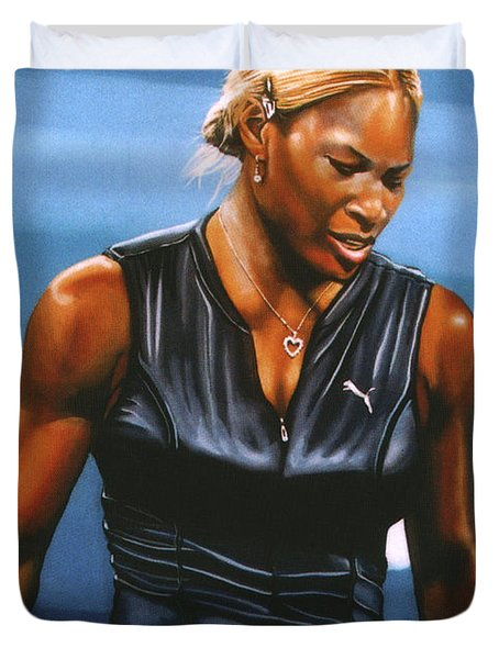 Serena Williams Duvet Cover by Paul Meijering