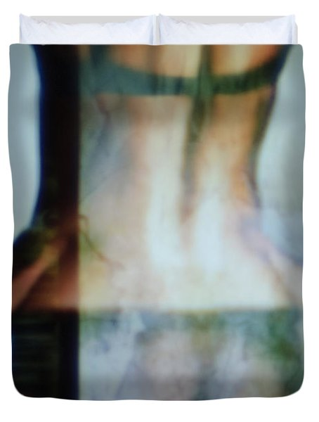 Sexy Woman Duvet Cover by David Ridley