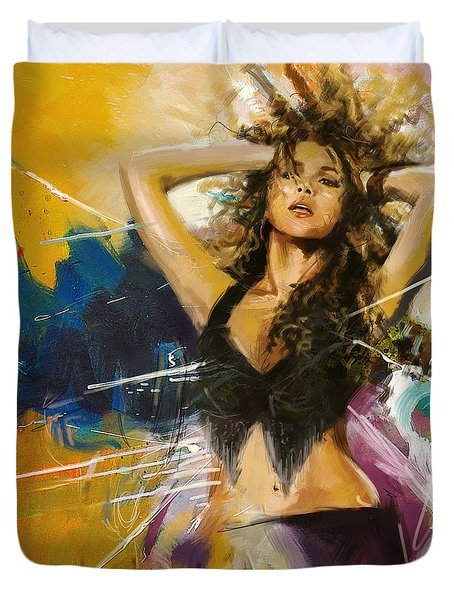 Shakira Duvet Cover by Corporate Art Task Force