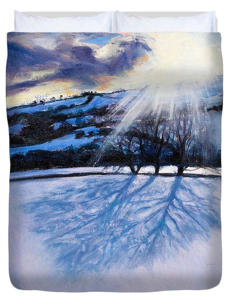 Snow Shadows Duvet Cover by Tilly Willis