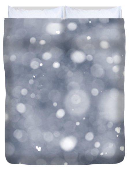 Snowfall  Duvet Cover by Elena Elisseeva