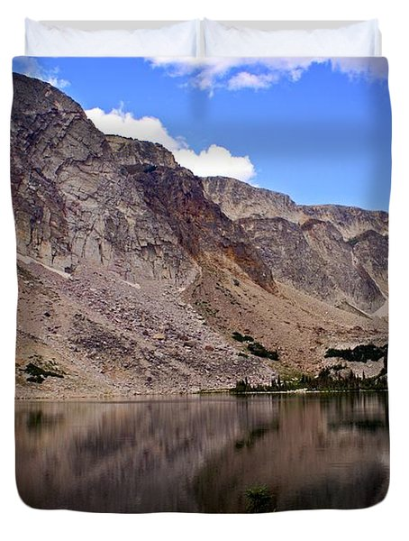 Snowy Mountain Loop 1 Duvet Cover by Marty Koch