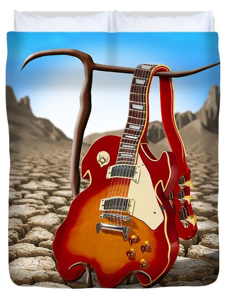 Soft Guitar II Duvet Cover by Mike McGlothlen