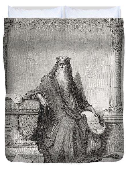 Solomon Duvet Cover by Gustave Dore