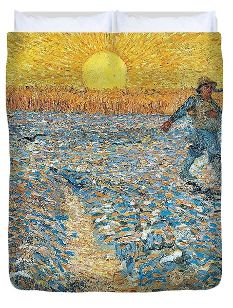 Sower Duvet Cover by Vincent van Gogh