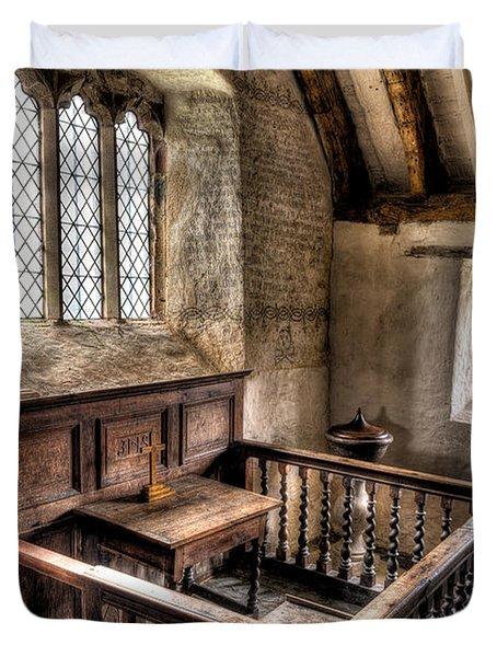 St Celynnin Church Duvet Cover by Adrian Evans