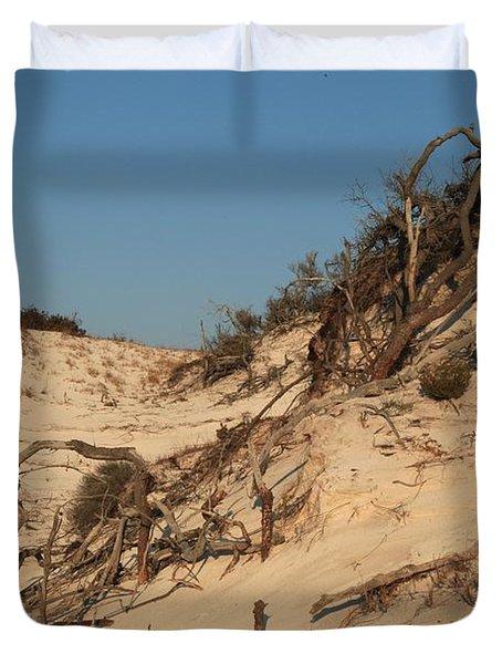 St Joseph Sand Dunes Duvet Cover by Adam Jewell