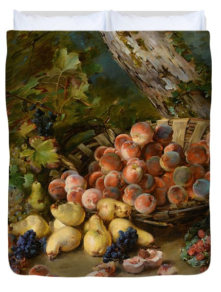 Still Life With Fruits Duvet Cover by Madeleine Jeanne Lemaire