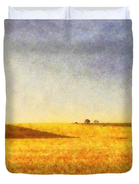 Summer Field Duvet Cover by Pixel Chimp