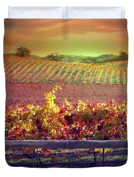 Sunrise Vineyard Duvet Cover by Stephanie Laird