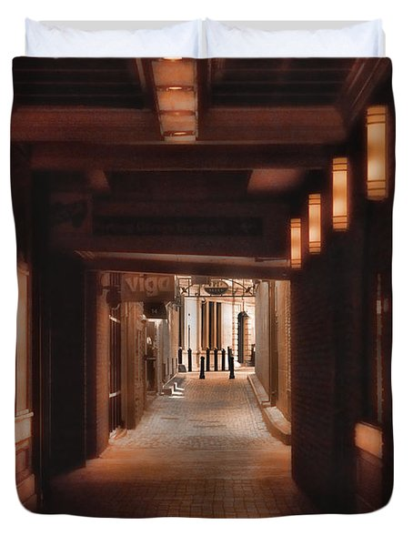 The Alleyway Duvet Cover by Joann Vitali